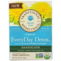 Traditional Medicinals Everyday Detox Dandelion Tea Bags, 16 count, (Pack of 3)