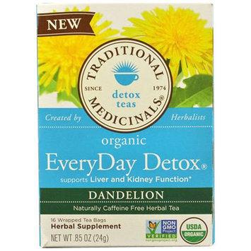 Traditional Medicinals Everyday Detox Dandelion Tea Bags, 16 count, (Pack of 3)