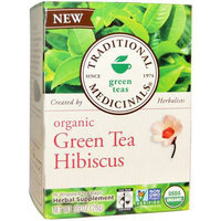 Traditional Medicinals Organic Hibiscus Green Tea Bags, 16 count, (Pack of 3)