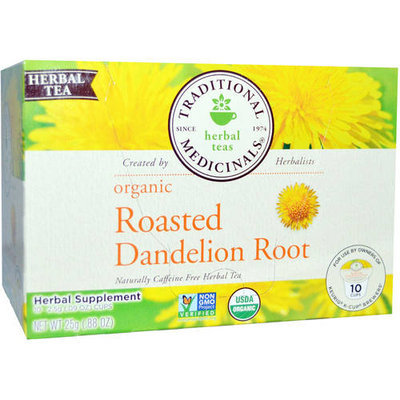 Traditional Medicinals Organic Roasted Dandelion Root Tea K-Cups, 10 count, (Pack of 3)