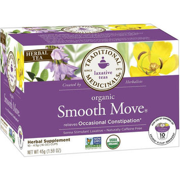 Traditional Medicinals Organic Smooth Move Tea K-Cups, 10 count, (Pack of 3)