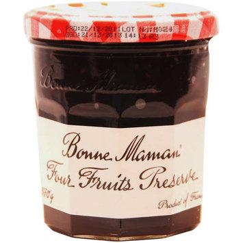 Bonne Maman Four Fruits Preserves, 13 oz, (Pack of 4)