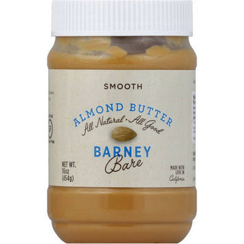 Barney Butter Bare Smooth Almond Butter, 16 oz, (Pack of 3)