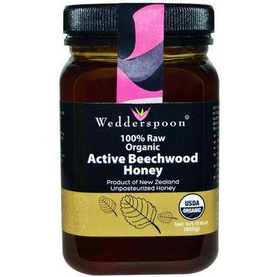 Wedderspoon 100% Raw Organic Active Beechwood Honey, 17.6 oz