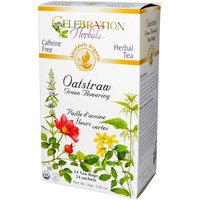 Celebration Herbals Oatstraw Green Flowering Herbal Tea Bags, 24 count, (Pack of 3)