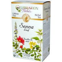 Celebration Herbals Senna Leaf Herbal Tea Bags, 24 count, (Pack of 3)