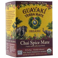 Guayaki Yerba Mate Chai Spice Mate Tea Dietary Supplement, 16 count, 1.41 oz, (Pack of 3)