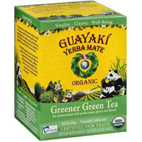 Guayaki Yerba Mate Greener Green Tea Dietary Supplement, 16 count, 1.41 oz, (Pack of 3)
