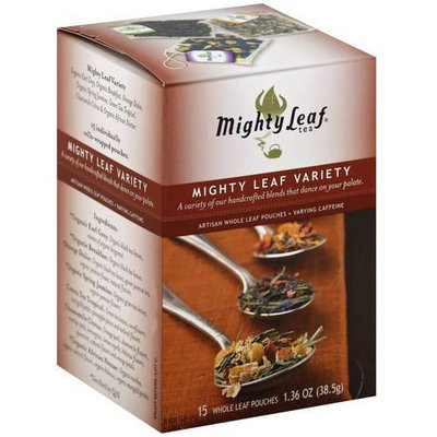 Mighty Leaf Tea Mighty Leaf Variety Artisan Whole Leaf Tea Pouches, 15 count, 1.36 oz, (Pack of 3)