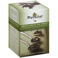 Mighty Leaf Tea Green Tea Tropical Artisan Whole Leaf Pouches, 15 count, 1.32 oz, (Pack of 3)