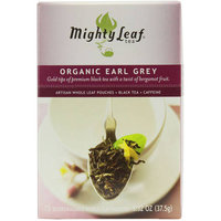 Mighty Leaf Tea Organic Earl Grey Black Tea Artisan Biodegradable Whole Leaf Pouches, 15 count, 1.32 oz, (Pack of 3)