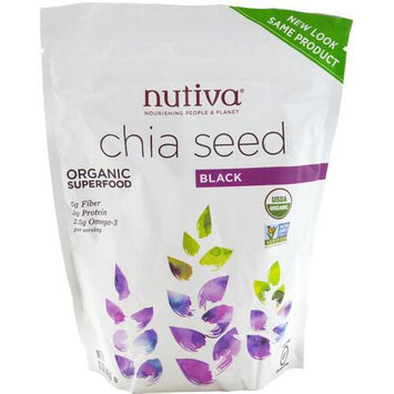 Nutiva Ground Chia Seed Organic Superfood, 12 oz