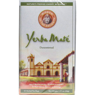 Wisdom of the Ancients Unsweetened YerbaMate Tea, 25 count, (Pack of 2)