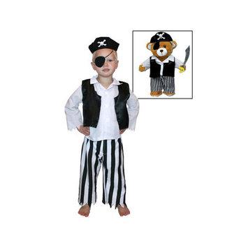 Pinnacle Import Pirate Stuffed Animal Bear Dress Up Set
