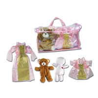 Pinnacle Import Princess Stuffed Animal Bear Dress Up Set