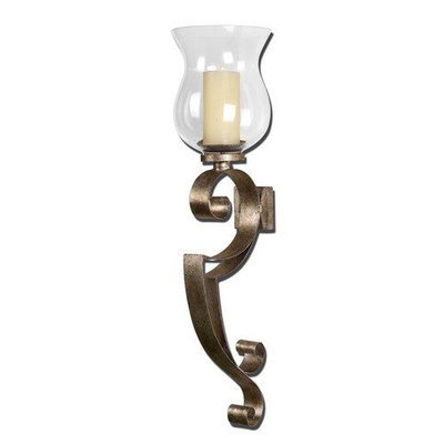 Uttermost Loran Metal Wall Sconce in Antiqued Silver Champagne
