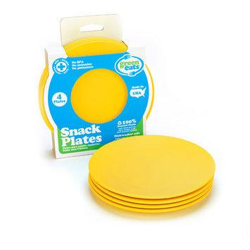 Green 3 Green Eats Snack Plate, 4pk, Yellow