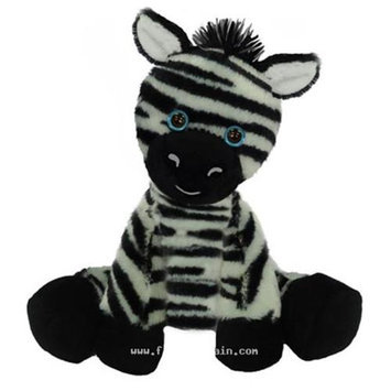 First & Main, Inc. First & Main 7773 7 in. Sitting Floppy Friends Zebra Plush Toy