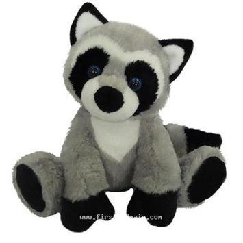 First & Main, Inc. First & Main 7783 7 in. Sitting Floppy Friends Raccoon Plush Toy
