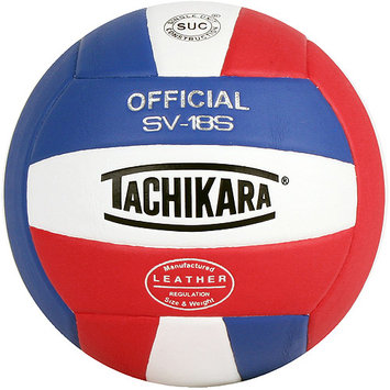 Tachikara USA SV18S. SWR Composite Leather Volleyball - Red-White-Royal