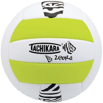 Tachikara ZEBRA Sof-Tec Volleyball - Lime Green-White