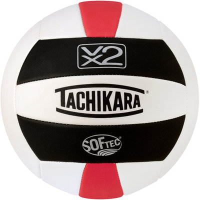 Tachikara SofTec Volleyball Black White Scarlet