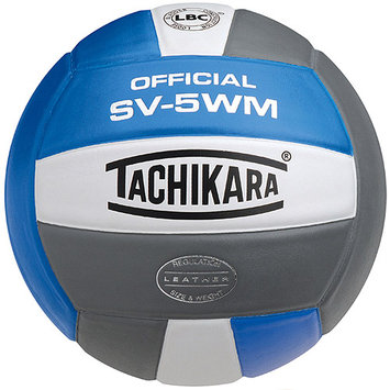 Tachikara SV5WM. SWR Full Grain Leather VolleyBall - Scarlet-White-Royal