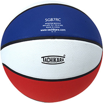 Tachikara SGB5RC. SWR Rubber Basketball - Junior Size - Scarlet-White-Royal