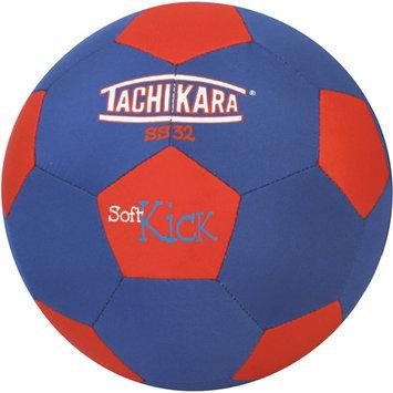 Tachikara Soft Kick Soccer Ball, Blue/Red - Size 4