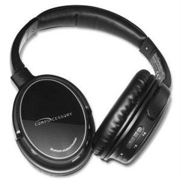 Compucessory Headphones Bt Hi-fi W/mic - Stereo - Black Silver - Wireless - Bluetooth - Over-the-head - Binaural - Circumaural (ccs-28287)