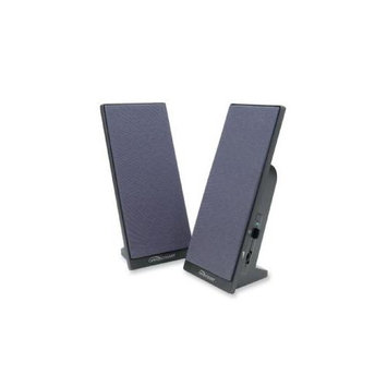 Compucessory Flat Panel Full Range Speakers, Black