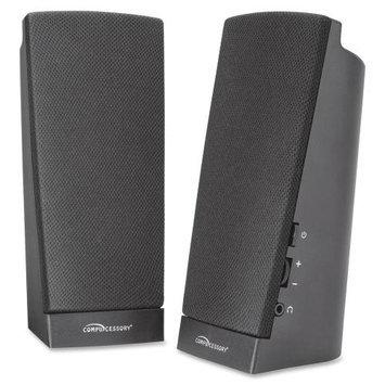 Compucessory Speaker System - 1 W RMS - Black - USB