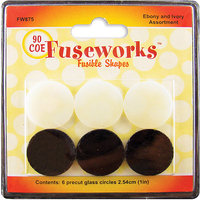 Diamond Tech Crafts FW875 Fusible Opaque Glass Shapes 90COE Rounds 6/Pkg
