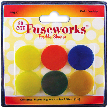 Diamond Tech Crafts FW877 Fusible Opaque Glass Shapes 90COE Rounds 6/Pkg