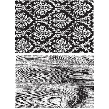 Paradise Eximport, Inc. Tim Holtz Cling Rubber Stamp Set-Wallpaper and Wood