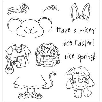 Paradise Eximport, Inc. Stampers Anonymous Inky Antics Clear Stamp Set, Easter Millie