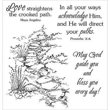 Paradise Eximport, Inc. Stampers Anonymous Inky Antics Clear Stamp Set, Guided Path