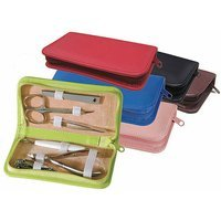 Emporium Leather Royce Leather Travel and Grooming Kit Burgundy