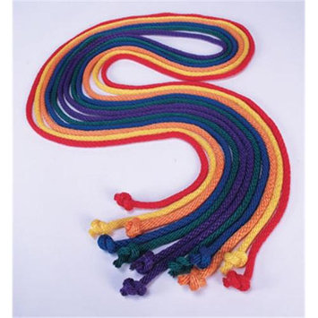 American Educational YTA-024 Nylon Jump Ropes - Set of 6 - 9 Foot in Assorted Colors
