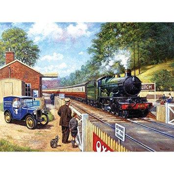 Trainspotting with Grandpa 1000 Piece Jigsaw Puzzle SOIY3781 SunsOut