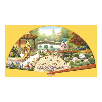 SunsOut Japanese Garden Shaped Puzzle - 1000 Pieces