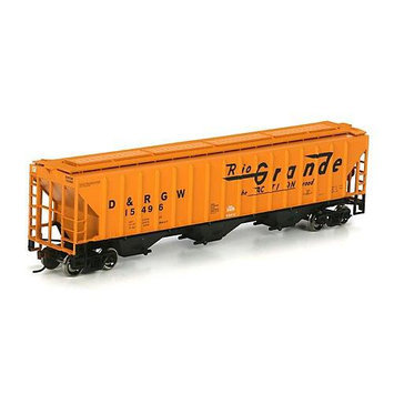 HO RTR PS 4740 Covered Hopper, D & RGW #15496 ATH72381 ATHEARN