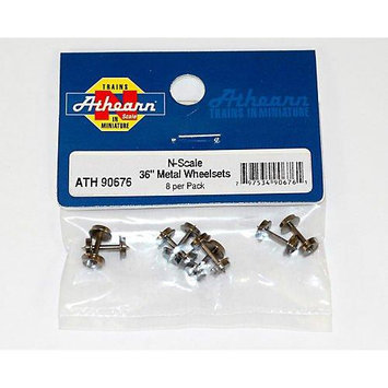 N 36 Metal Wheel Set (8) ATH90676 ATHEARN
