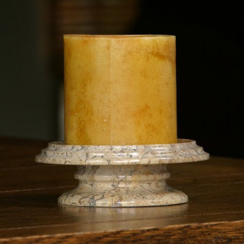 Marble Products International Cameo Marble Candle Dish - Color: Fossil Stone