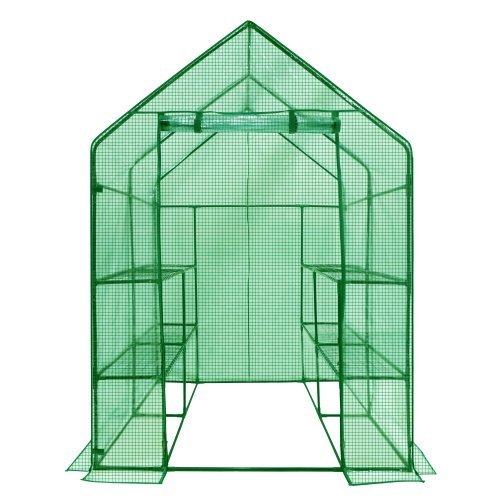 Ogrow Deluxe Walk-in 2-tier 8-shelf Portable Lawn and Garden Greenhouse
