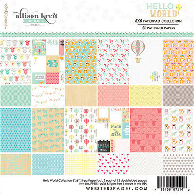 Webster's Pages Paper Pad 6inX6in 24/Pkg-Hello World