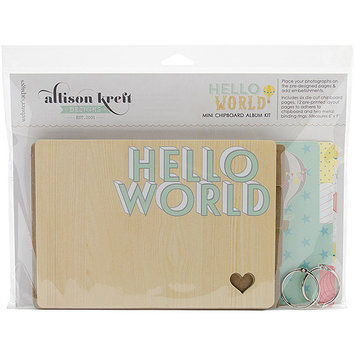 Webster's Pages Hello World Chipboard Book Kit 6inX9in