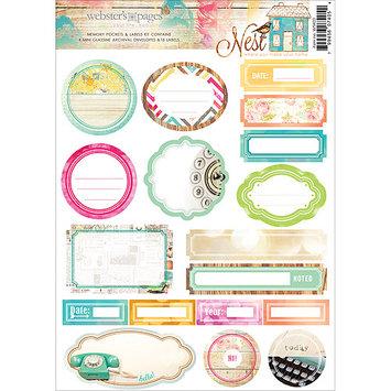 Webster's Pages Nest Memory Pockets & Labels