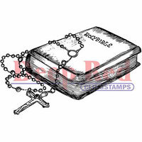 Deep Red Stamps Deep Red Cling Stamp - Bible & Rosary