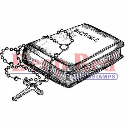 Deep Red Stamps Deep Red Cling Stamp - Dianthus Chalk Flowers